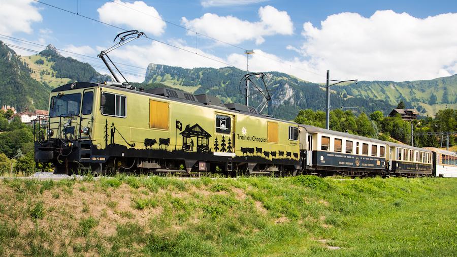 Tren de Chocolate Suiza